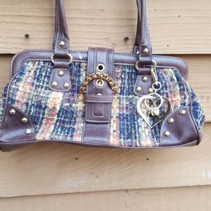 KATHY VAN cord knit purse with jeweled flap